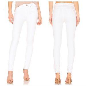 Rag & Bone High Rise Skinny Jean in Blanc